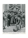 Free Buffet for Soldiers and Sailor, Victoria Station, WW1 Giclee Print by Frank Dadd