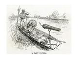 WW1 - a Punt Patrol Giclee Print by F.h. Townsend