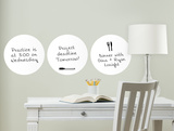 White Dry Erase Dots Wall Decal