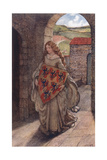 Elaine and Shield, Legend Giclee Print by Eleanor Fortescue Brickdale
