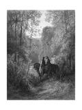 Dawn of Love, Lancelot Giclee Print by E.P. Brandard