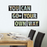 Go Your Own Way Quote Autocollant mural