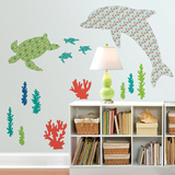 Daphne the Dolphin Wall Art Kit Wall Decal
