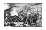1848, Catania Fighting Giclee Print by Ferdinand Perrin