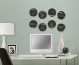 Black Weekly Dry Erase Dots Wall Decal