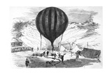 Siege of Paris-Balloons Giclee Print by F. Meaulue