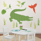 Amos the Crocodile Wall Art Kit Wallsticker