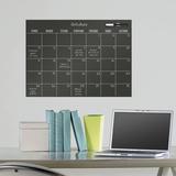 Black Dry Erase Calendar - Duvar Çıkartması