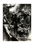 WW1 - Second Battle of Dover Strait - HMS Broke Rams Germans Giclee Print by E.s. Hodgson