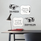 Do This Not That Dry Erase Quote Bubbles Wall Decal