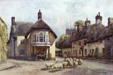 Puddletown, Dorset Fotoprint van Ernest W Haslehust
