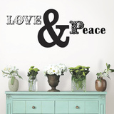 Love and Peace Quote Decalques de parede