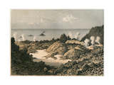 Etna Crater in 1834 Premium Giclee Print by Eugene Ciceri