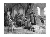 Soldier Declares Feudal Homage to the King Giclee Print by Emile Bayard