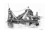 Panama Dredger 2 1889 Giclee Print by Edward Whymper