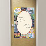 Passport Dry Erase Message Board Wall Decal
