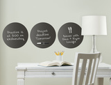 Black Dry Erase Dots Wall Decal