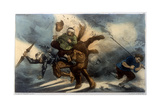 Quixote - Flying Horse Giclee Print by Edmond Morin