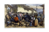 Quixote at Village Giclee Print by Edmond Morin