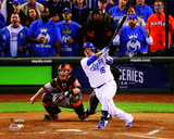 Billy Butler Game 6 of the 2014 World Series Action Photo