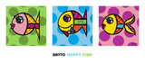 Happy Fish Prints by Romero Britto