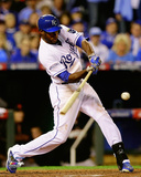 Lorenzo Cain Game 6 of the 2014 World Series Action Photo