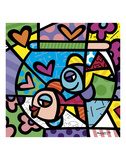 Fishbowl Posters by Romero Britto