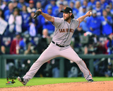Madison Bumgarner Game 7 of the 2014 World Series Action Photo