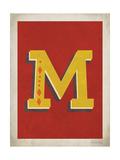Vintage M Art by Rebecca Peragine