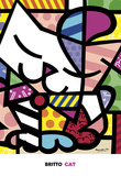 Cat Posters by Romero Britto