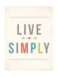Live Simply Art by Rebecca Peragine