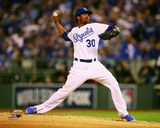 Yordano Ventura Game 6 of the 2014 World Series Action Photo