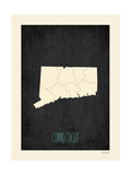 Black Map Connecticut Posters by Rebecca Peragine