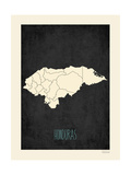 Black Map Honduras Prints by Rebecca Peragine