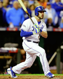 Mike Moustakas Game 6 of the 2014 World Series Action Photo
