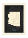 Black Map Arizona Posters by Rebecca Peragine