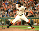 Sergio Romo Game 3 of the 2014 World Series Action Photo