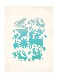 Turquoise Otomi Posters par Rebecca Peragine