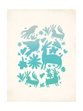 Turquoise Otomi Posters by Rebecca Peragine