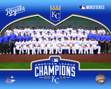 Kansas City Royals 2014 American League Champions Team Sit Down Photo