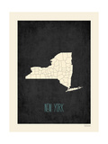Black Map New York Poster by Rebecca Peragine