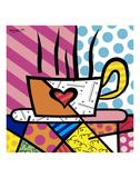 Latte Love Prints by Romero Britto