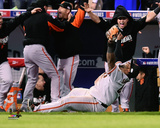 Pablo Sandoval Celebrates the final out Game 7 of the 2014 World Series Photo