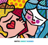 Sweet Kisses Art by Romero Britto