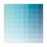 Aqua Square Spectrum Poster by Rebecca Peragine
