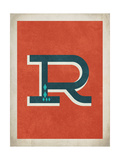 Vintage R Print by Rebecca Peragine