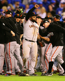 Pablo Sandoval Celebrates winning Game 7 of the 2014 World Series Photo