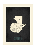 Black Map Guatemala Poster by Rebecca Peragine