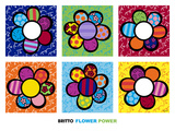 Flower Power Multi Posters by Romero Britto
