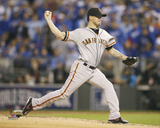 Jake Peavy Game 6 of the 2014 World Series Action Photo